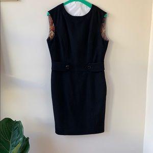 Gorgeous Black Wool Ted Baker Dress sz2 UK/sz6 US